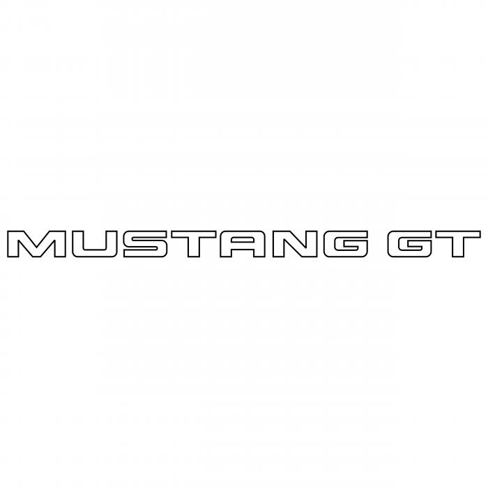 Mustang GT logo white