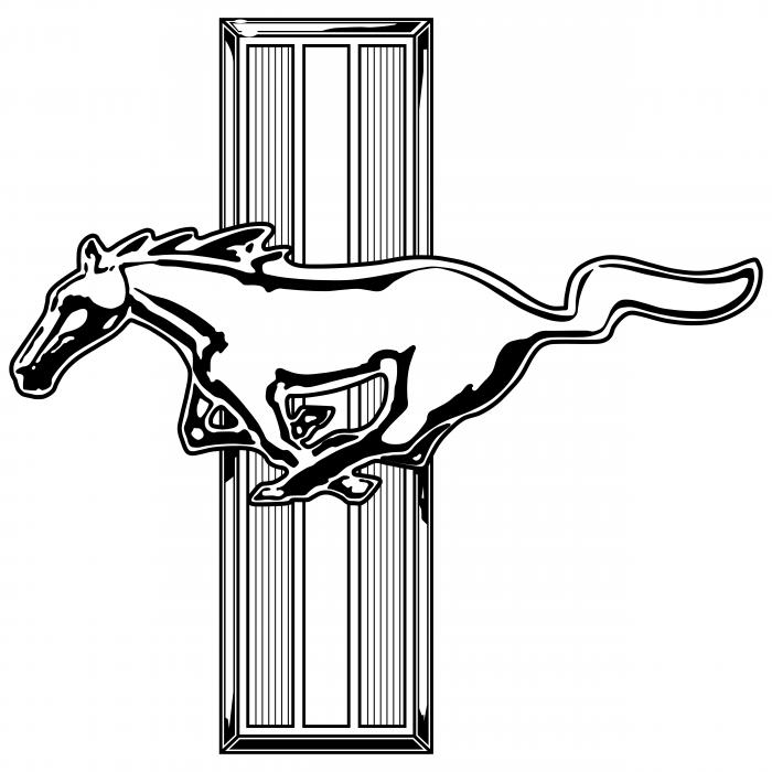 Mustang logo silver