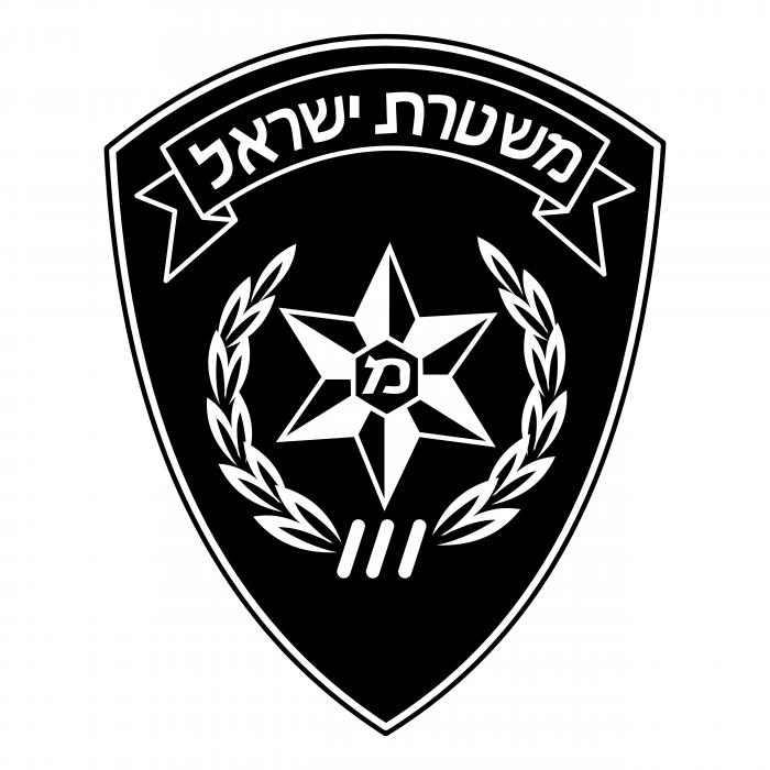 Police Israel logo black