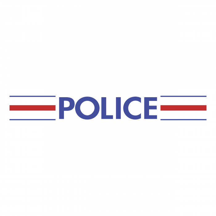 Police Nationale Francaise logo blue