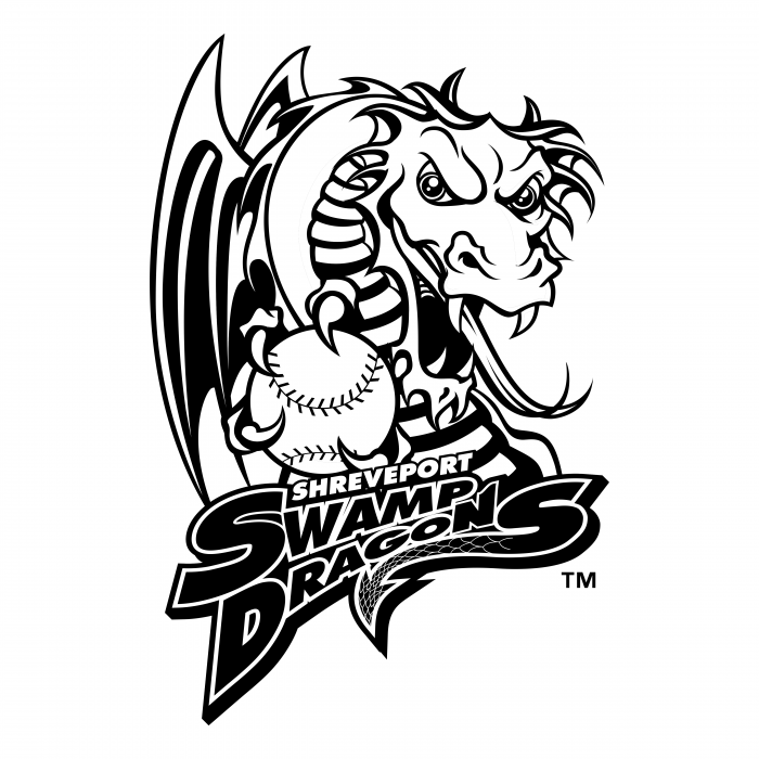 Shreveport Swamp Dragons logo black
