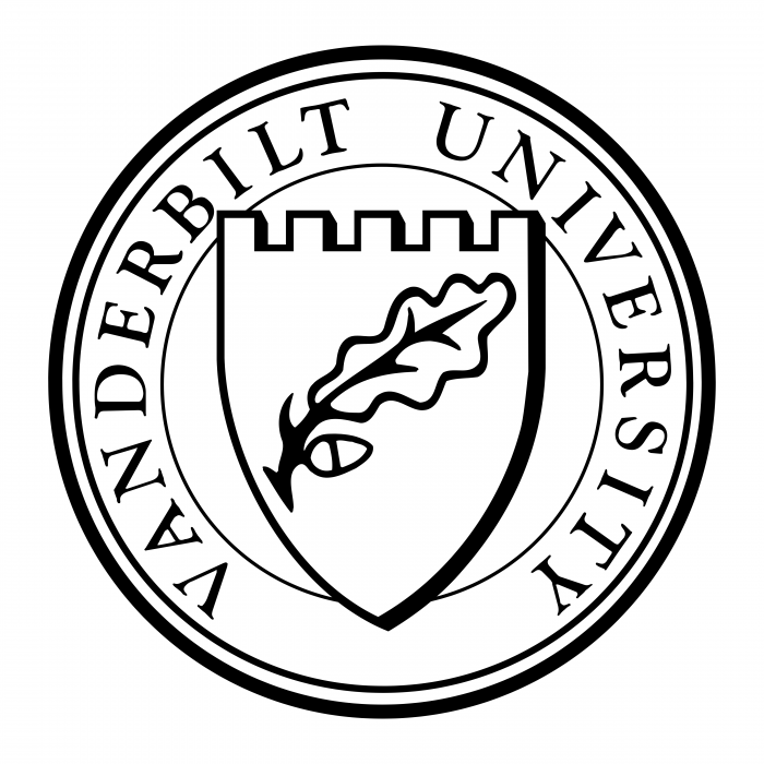 Vanderbilt University logo white