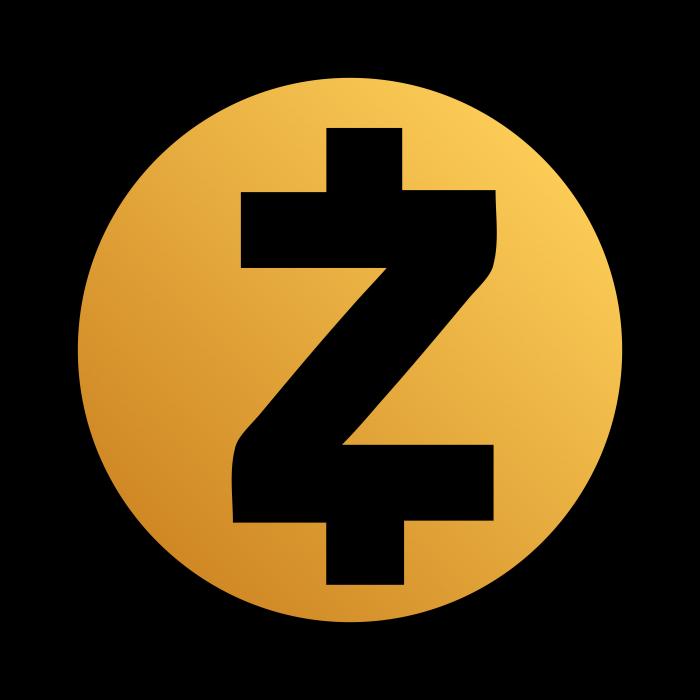 Zcash logo gold