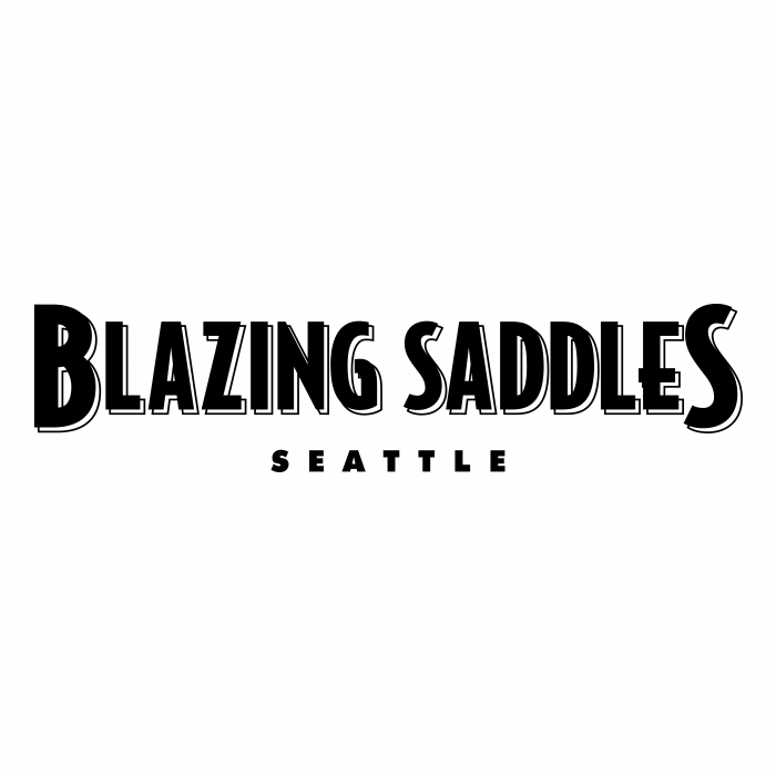 Blazing Saddles logo black