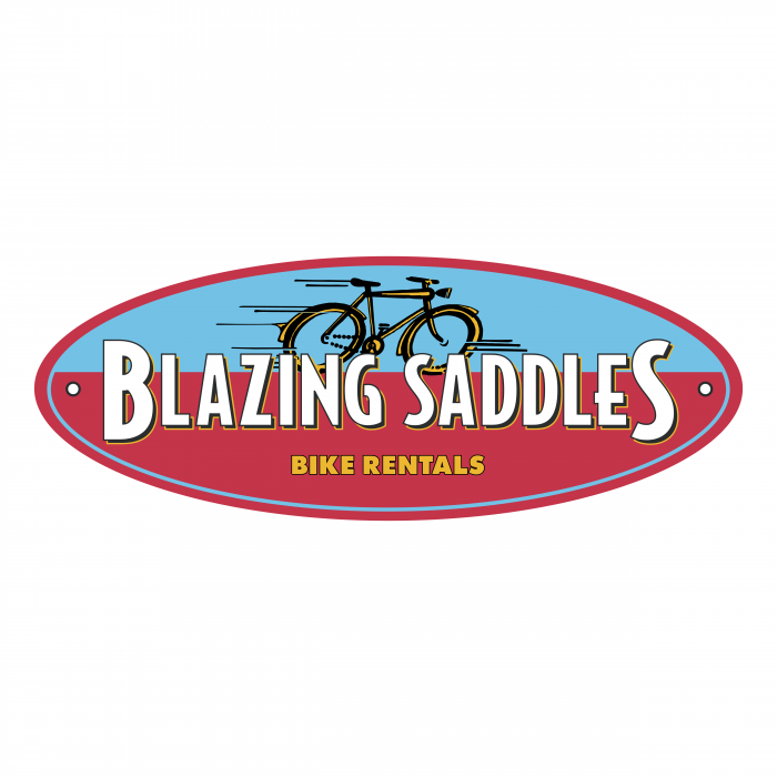 Blazing Saddles logo colour