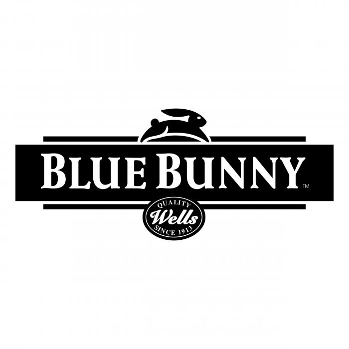 Blue Bunny logo black