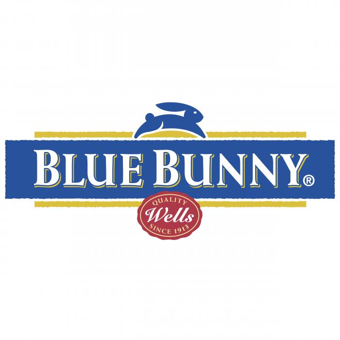 Blue Bunny logo blue