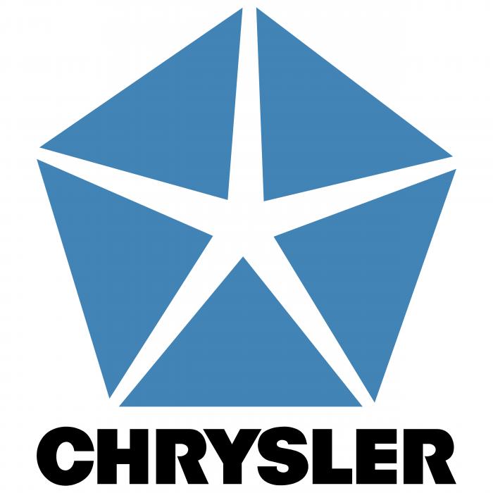 Chrysler logo blue