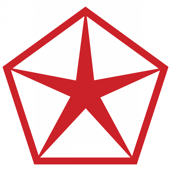 Chrysler logo red
