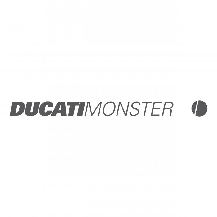 Ducati Monster logo grey