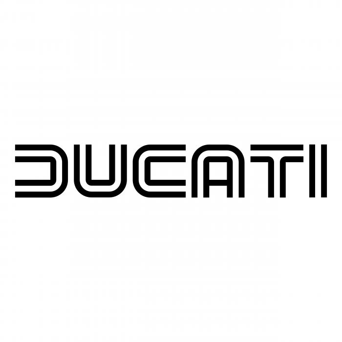 Ducati logo white