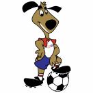 Football Mascot logo dog