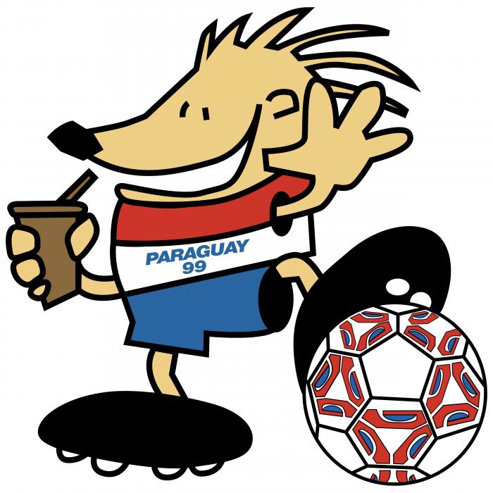 Football Mascot logo paraguay