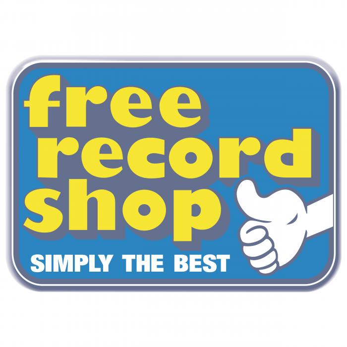 Free Record Shop logo blue