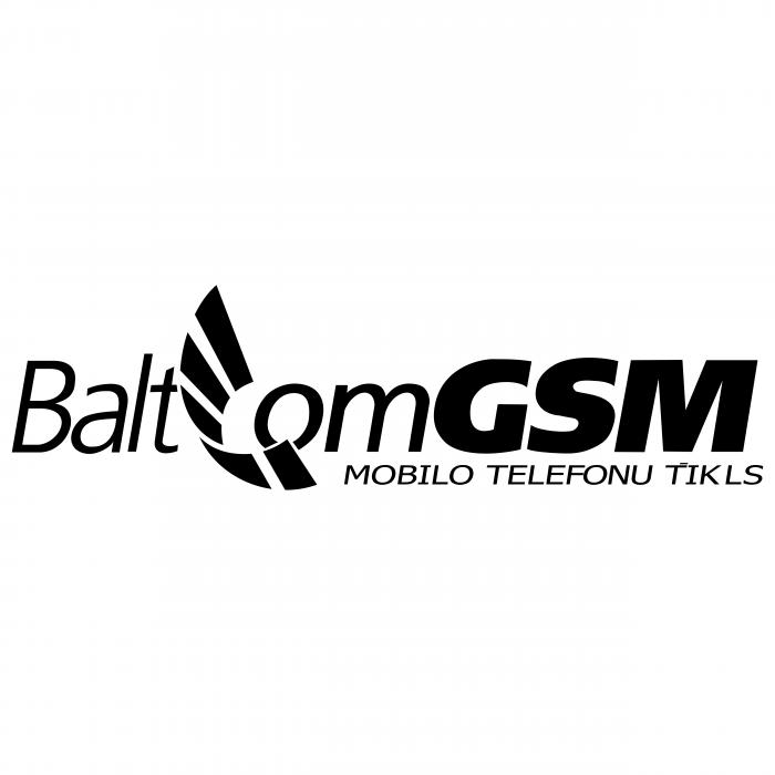 GSM Baltcom logo black