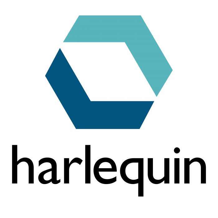 Harlequin logo blue