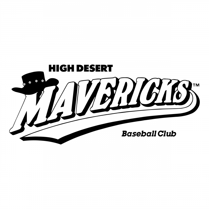 High Desert Mavericks logo white