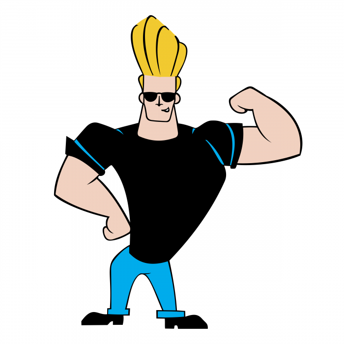 Johnny Bravo logo men