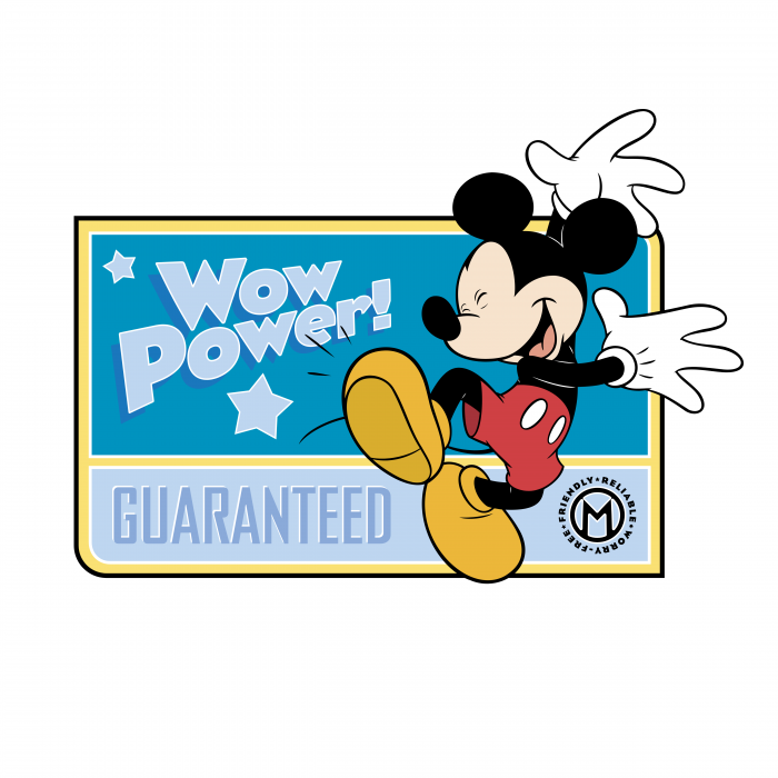 Mickey Mouse logo blue