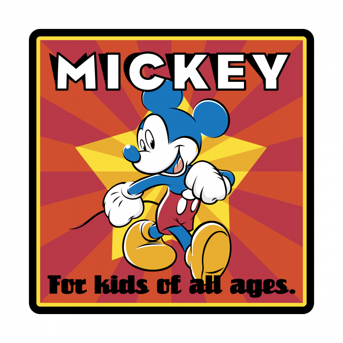 Mickey Mouse logo cube1