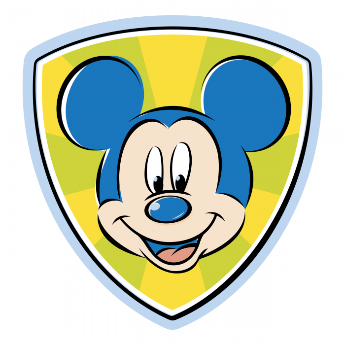 Mickey Mouse logo shield