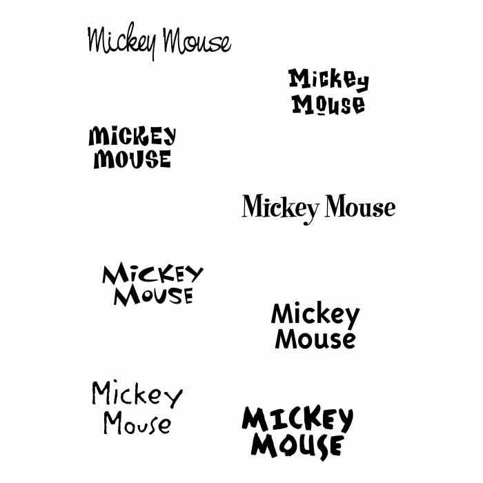 Mickey Mouse logo words