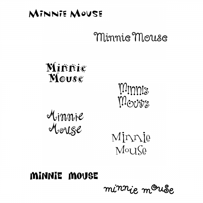 Minnie Mouse logo words