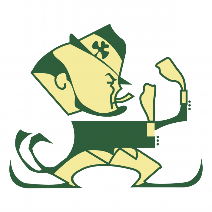 Notre Dame Fighting Irish logo green