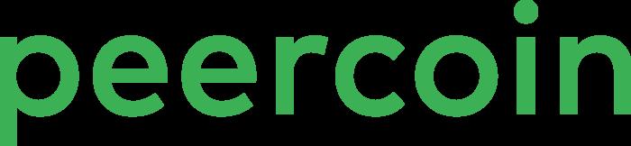 Peercoin Logo green text