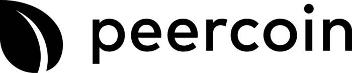 Peercoin Logo horizontally black