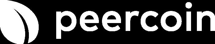 Peercoin Logo horizontally white