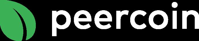 Peercoin Logo horizontally white text