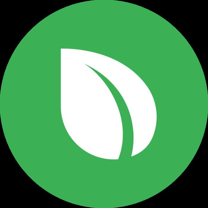 Peercoin Logo icon green background