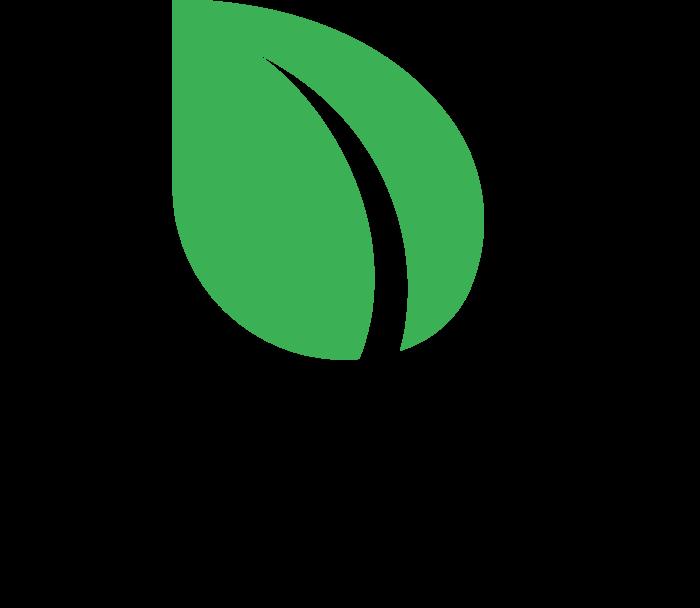 Peercoin Logo vertically black text
