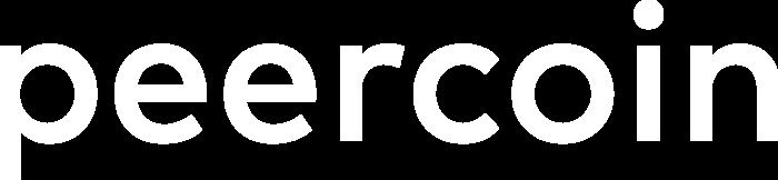 Peercoin Logo white text
