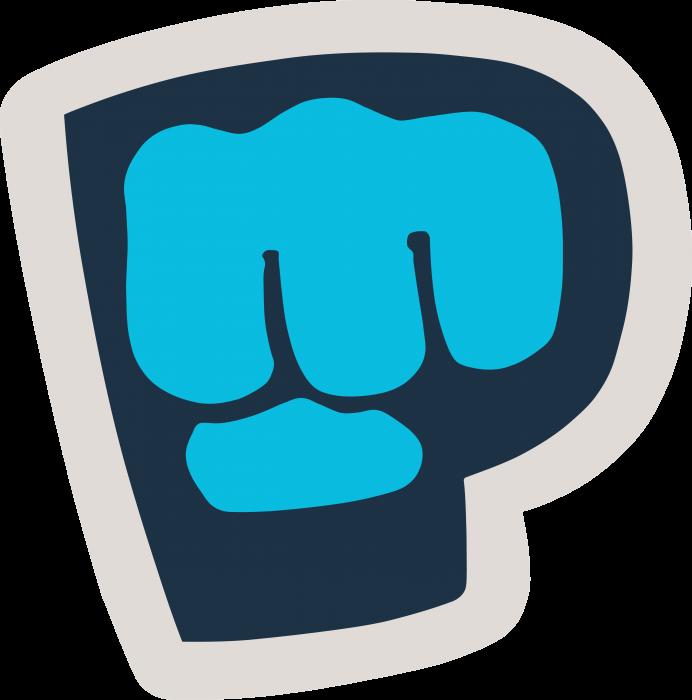 PewDiePie logo blue