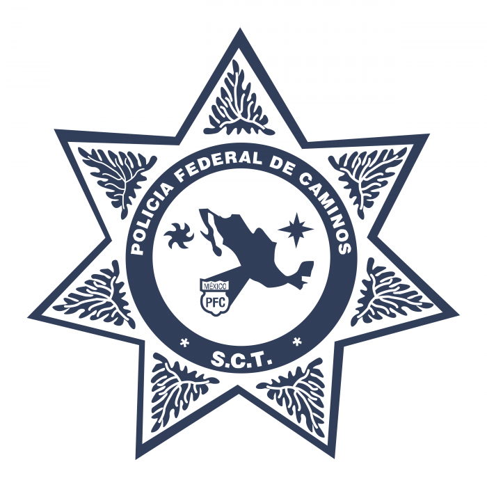 Policia Federal de Caminos Mexico logo blue