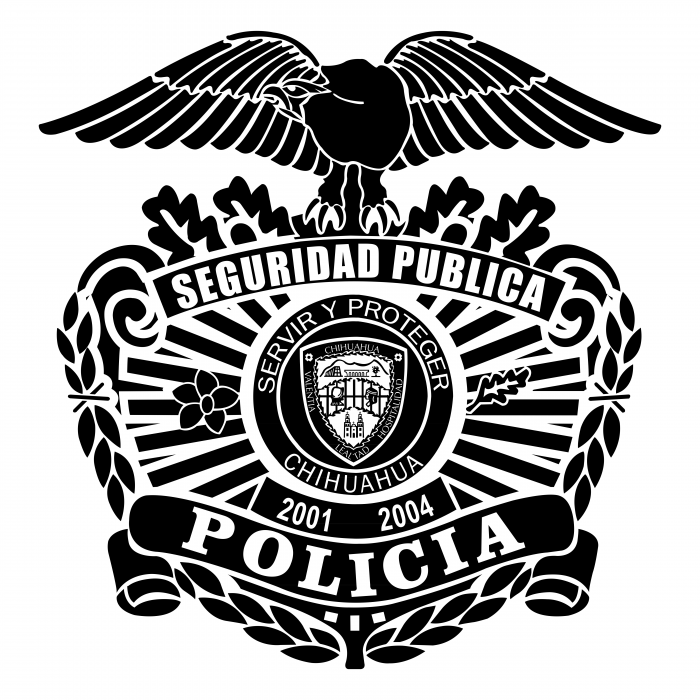 Policia Municipal Chihuahua Mexico logo black