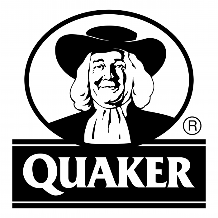 Quaker logo black