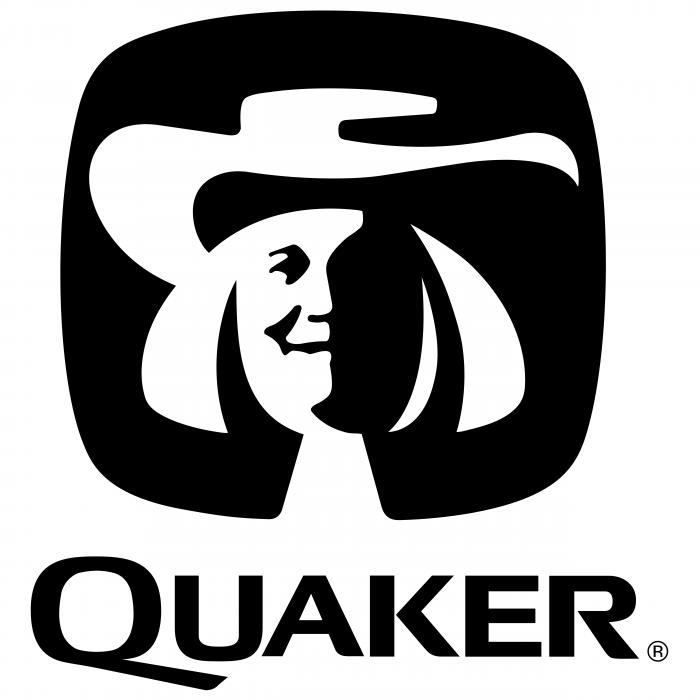 Quaker logo white