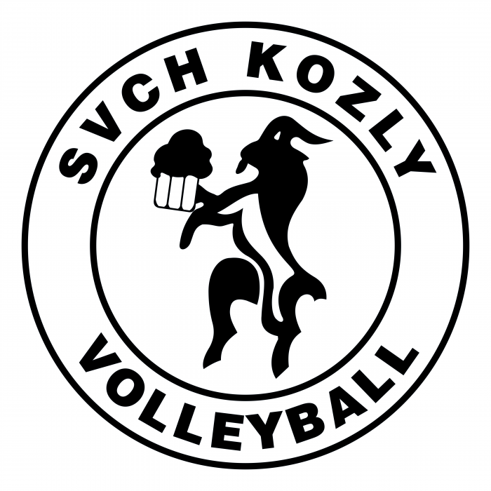 SVCH Kozly Volleyball logo black
