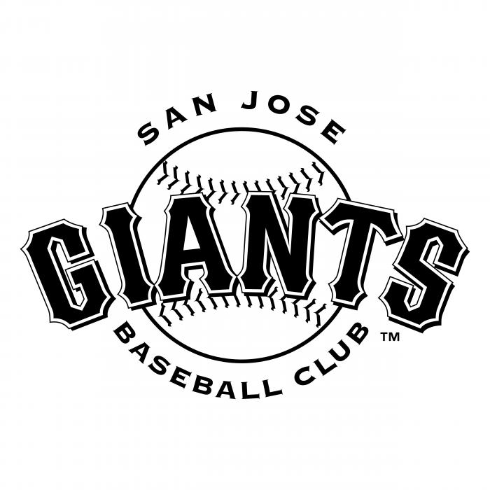 San Jose Giants logo black