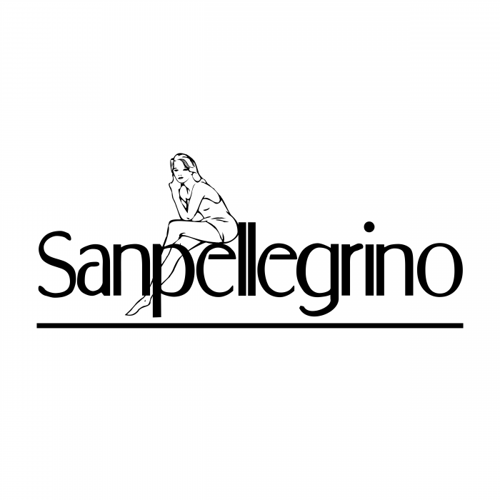 Sanpellegrino logo tights