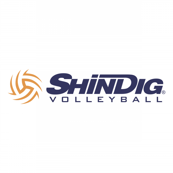 ShinDig Volleyball logo colour