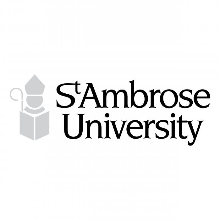 St Ambrose University logo black
