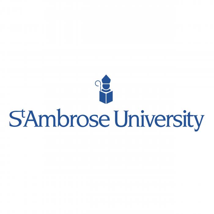 St Ambrose University logo blue
