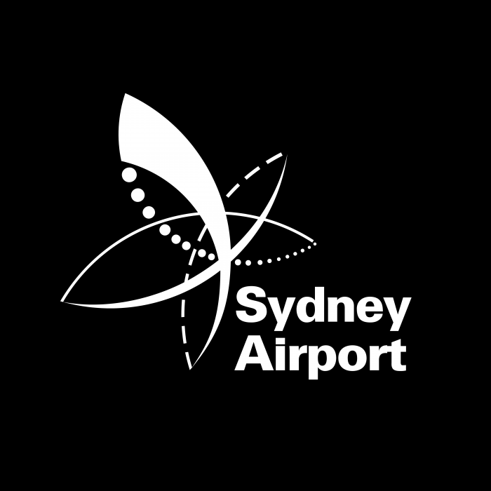Sydney Airport logo black