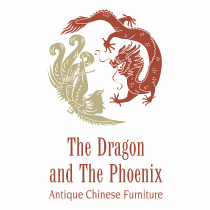 The Dragon and The Phoenix logo red