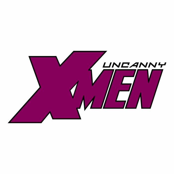 The Uncanny X Men logo purple