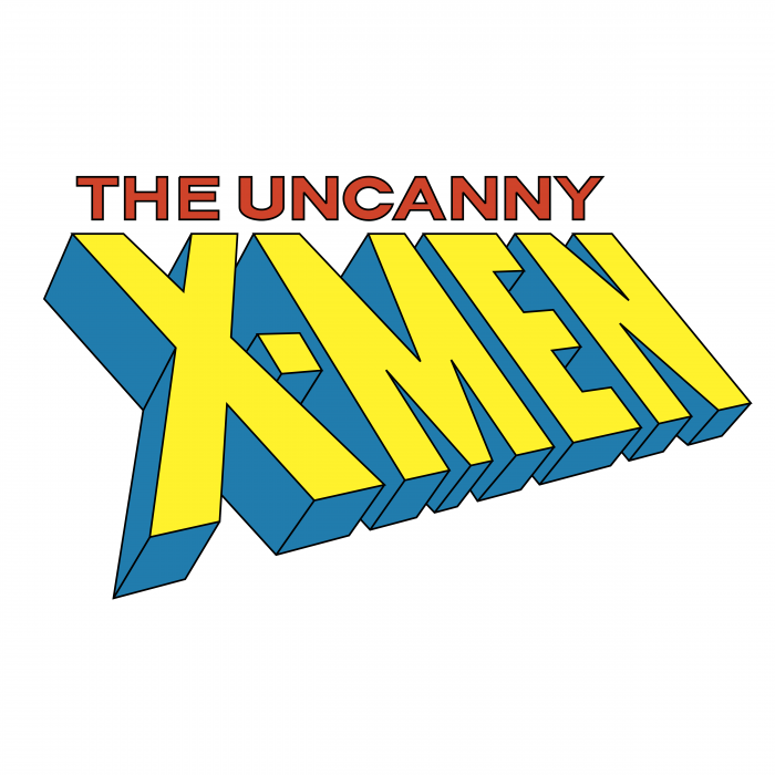 The Uncanny X Men logo yellow